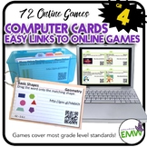 Online Links to Math Games using Computer Sheets or Cards