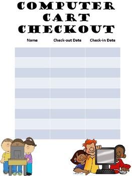 Computer Cart Checkout Sheet
