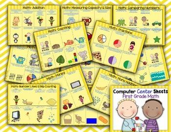 Computer Center Sheets {1st Grade~Math}