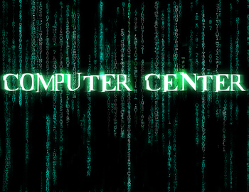 Computer Center poster in the style of the Matrix