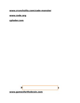 Computer Choice Sheet