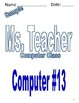 Computer Class Binder/Book of MANY Activities and Handouts!!