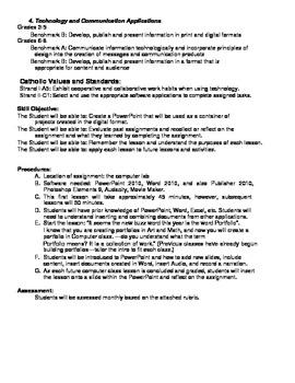 Computer Class Digital Portfolio Lesson