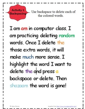 Computer Class Microsoft Word Processing Activity Assessment