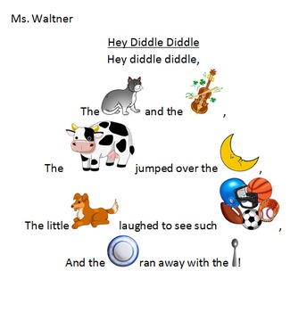 Computer Class - Nursery Rhyme Clipart Replacement Activity