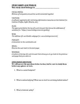 Computer Class Study Guide 12/13