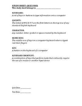 Computer Class Study Guide 4/13
