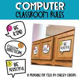 Computer Classroom Rules printable PDF files