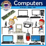 Computer Clip Art (Desktop, Laptop, Mac, Lab, Mouse, Chip, Typing Student)
