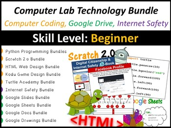 Technology, Computer Coding, Google Drive & Internet Safety (Entire Year Bundle)