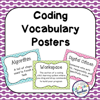 Hour of Code: Coding Vocabulary Posters {45 Coding Vocabulary Terms}