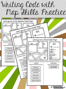Computer Coding with Map Skills - 3 Assessments
