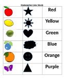 Computer Color Words Activity