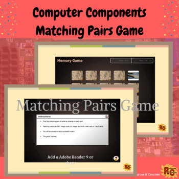 Computer Components Interactive Matching Game