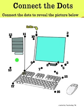 Computer Parts - Connect the dot