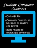 Computer Contract (Student)
