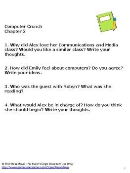 Computer Crunch! (The Secret World of Alex Mack #24) Book Unit