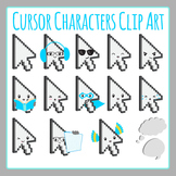 Computer Cursor Characters Clip Art Set for Commercial Use