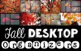 Computer Desktop Organizers - Fall - Editable