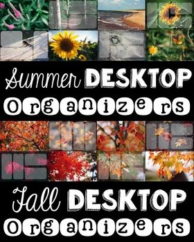 Computer Desktop Organizers - Seasons Bundle - Editable