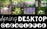 Computer Desktop Organizers - Spring - Editable