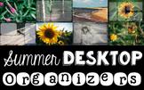 Computer Desktop Organizers - Summer - Editable