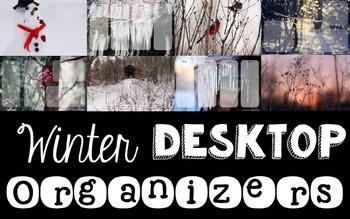 Computer Desktop Organizers - Winter - Editable