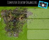 Computer Desktop Organizers and Wallpaper - Alligator Mascot - Alligator Theme