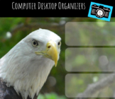 Computer Desktop Organizers and Wallpaper - Bald Eagle Theme - Eagle Mascot