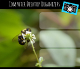 Computer Desktop Organizers and Wallpaper - Bee Mascot - Bee Theme
