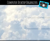 Computer Desktop Organizers and Wallpaper - Clouds From a Plane Theme