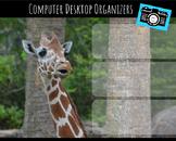 Computer Desktop Organizers and Wallpaper - Giraffe Theme