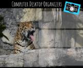 Computer Desktop Organizers and Wallpaper - Jaguar Mascot - Jaguar Theme