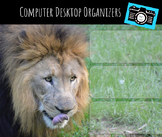 Computer Desktop Organizers and Wallpaper - Lion Mascot - Lion Theme