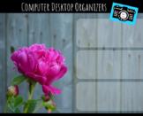 Computer Desktop Organizers and Wallpaper - Peony Theme