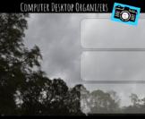 Computer Desktop Organizers and Wallpaper - Rain Clouds Theme