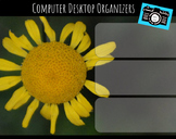 Computer Desktop Organizers and Wallpaper - Yellow Flower Theme