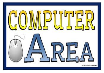 Computer Area Display Words