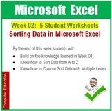 Microsoft Excel Spreadsheets : Week 02