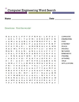 Computer Engineering Word Search