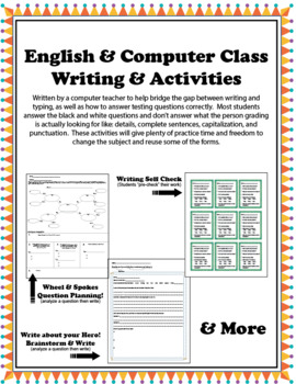 Computer/English Writing Pack & Test Prep