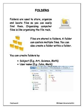 Computer Folders (Lower Elementary)