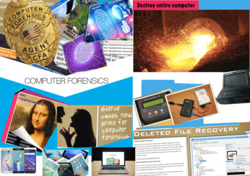 Computer Forensics - Criminal Law - Leading Cases - High Tech - FREE POSTER