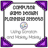 Computer Game Planning Sheets {For Use with Scratch Coding and/or a Makey Makey}