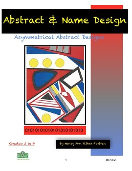 Computer Graphics Asymmetrical Abstract & Name Design