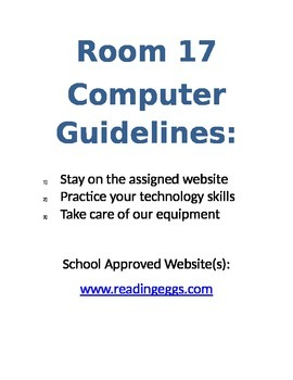 Computer Guidelines Poster