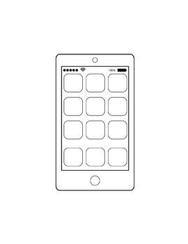Computer Icons Digital Clipart Bundle Color and Black White