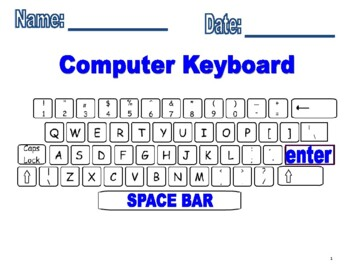 Computer Keyboard Printout and fill in missing keys worksheets! | TpT