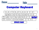 Computer Keyboard Printout and fill in missing keys worksheets!