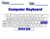 Computer Keyboard Printout and fill in missing keys worksheet!